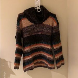 Anthropologie cowl neck sweater w/ bell sleeves